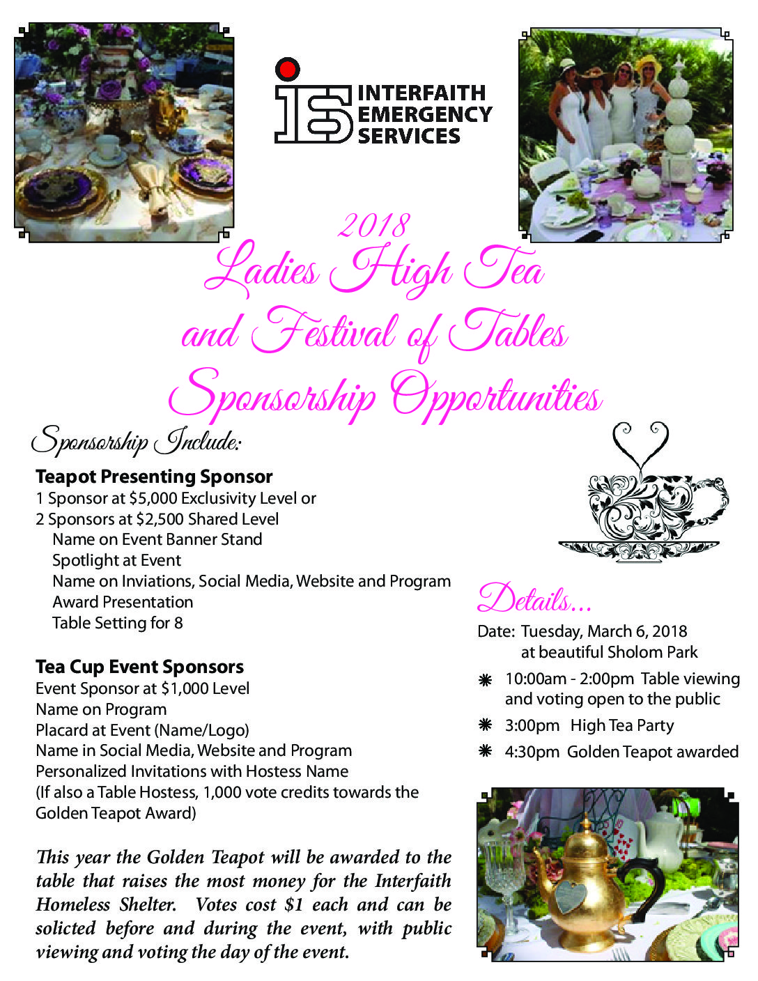 Festival of Tables Sponsorship Form 2018