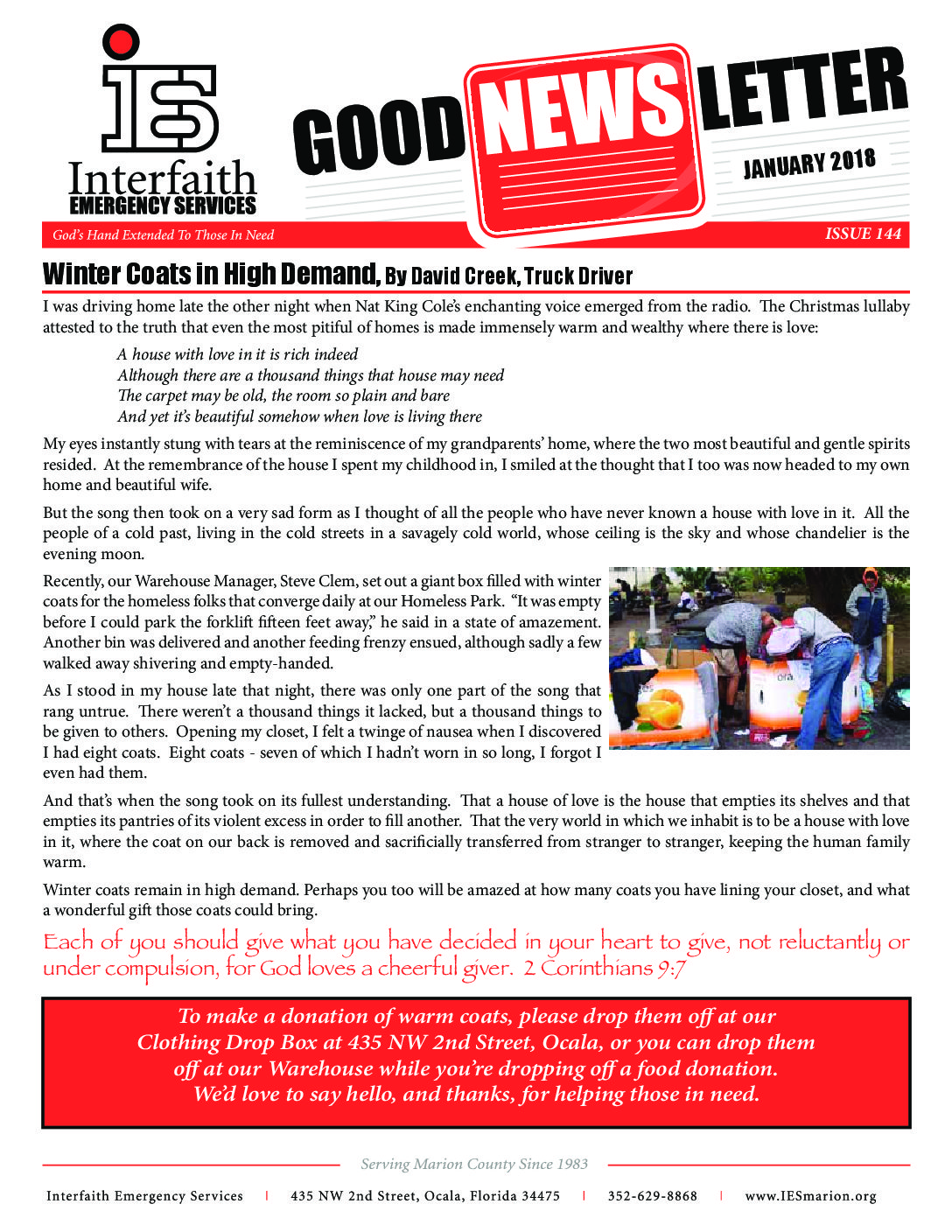 January 2018 IES Newsletter