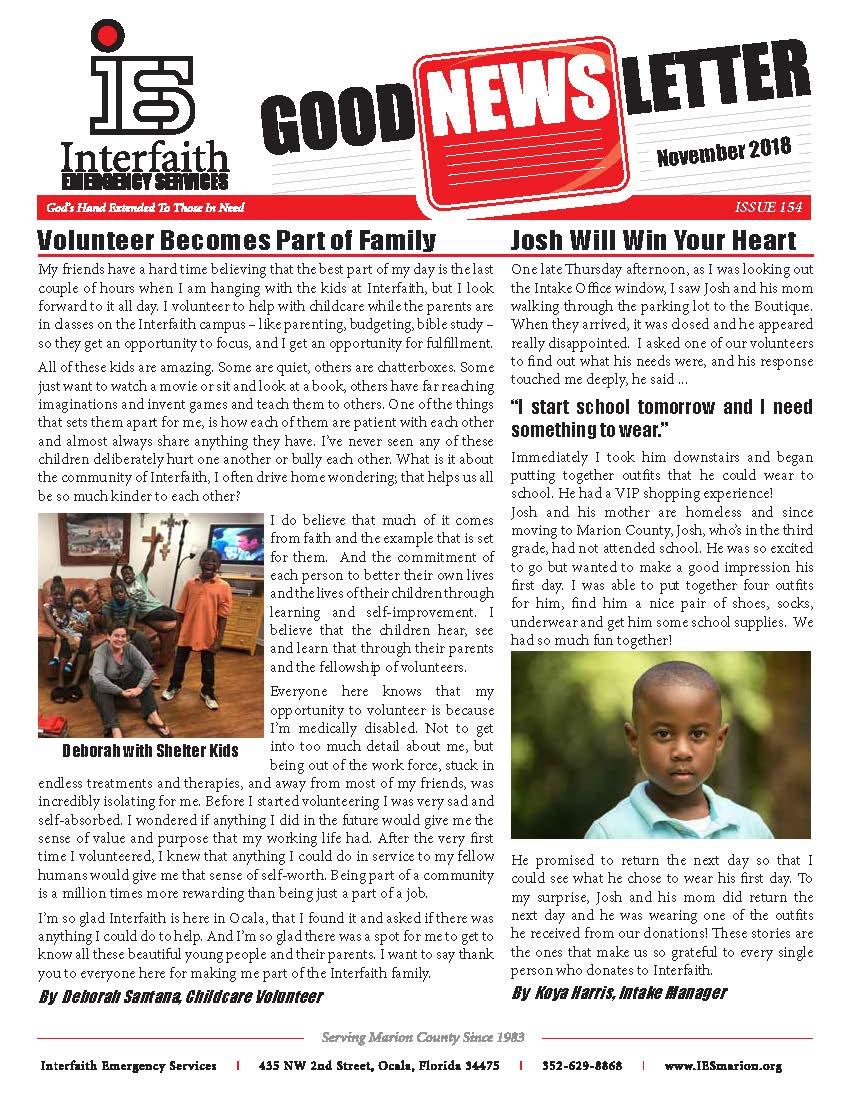 November 2018 IES Newsletter