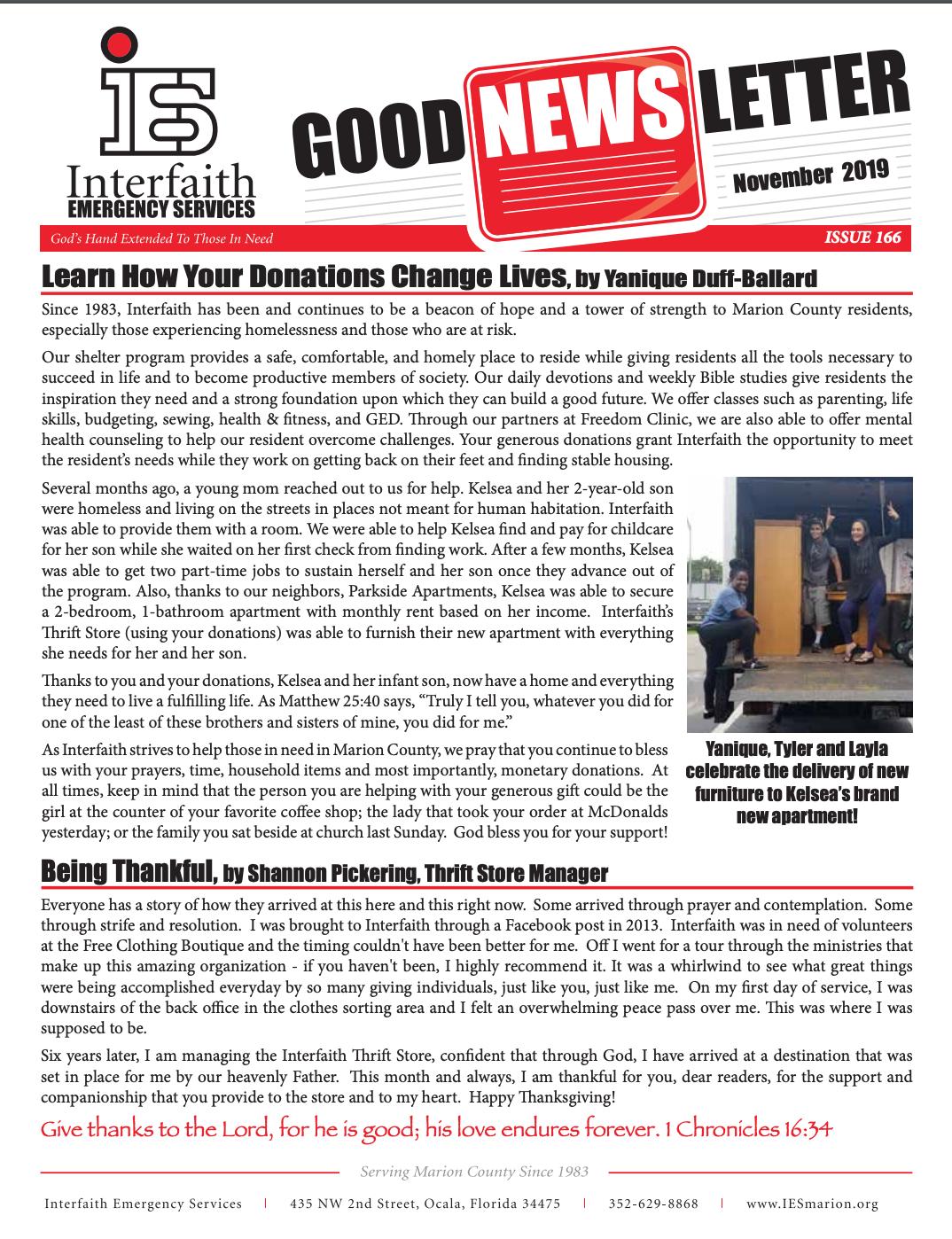 November 2019 IES Newsletter