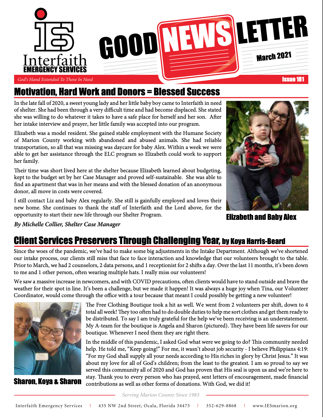 March 2021 IES Newsletter