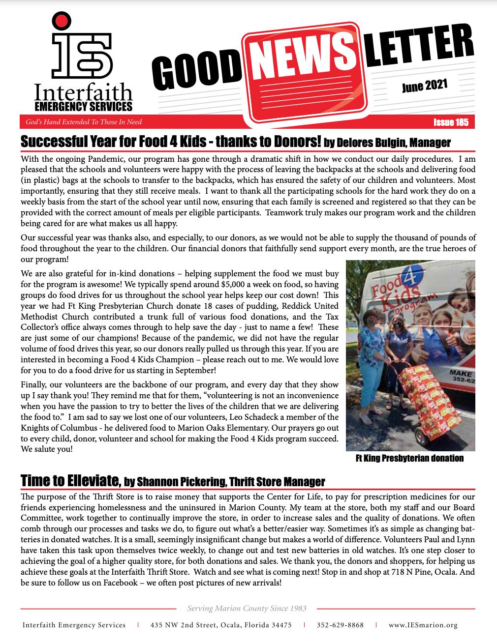 June 2021 IES Newsletter