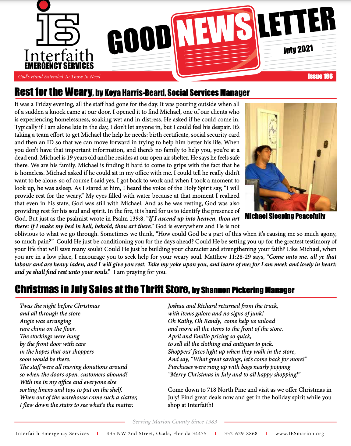 July 2021 IES Newsletter