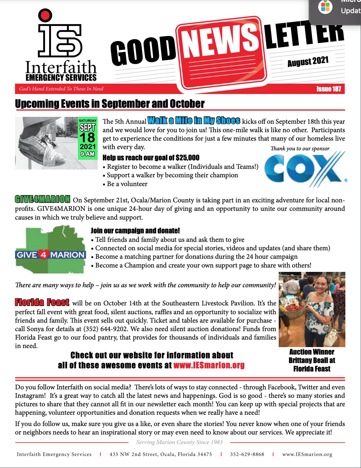 August 2021 IES Newsletter
