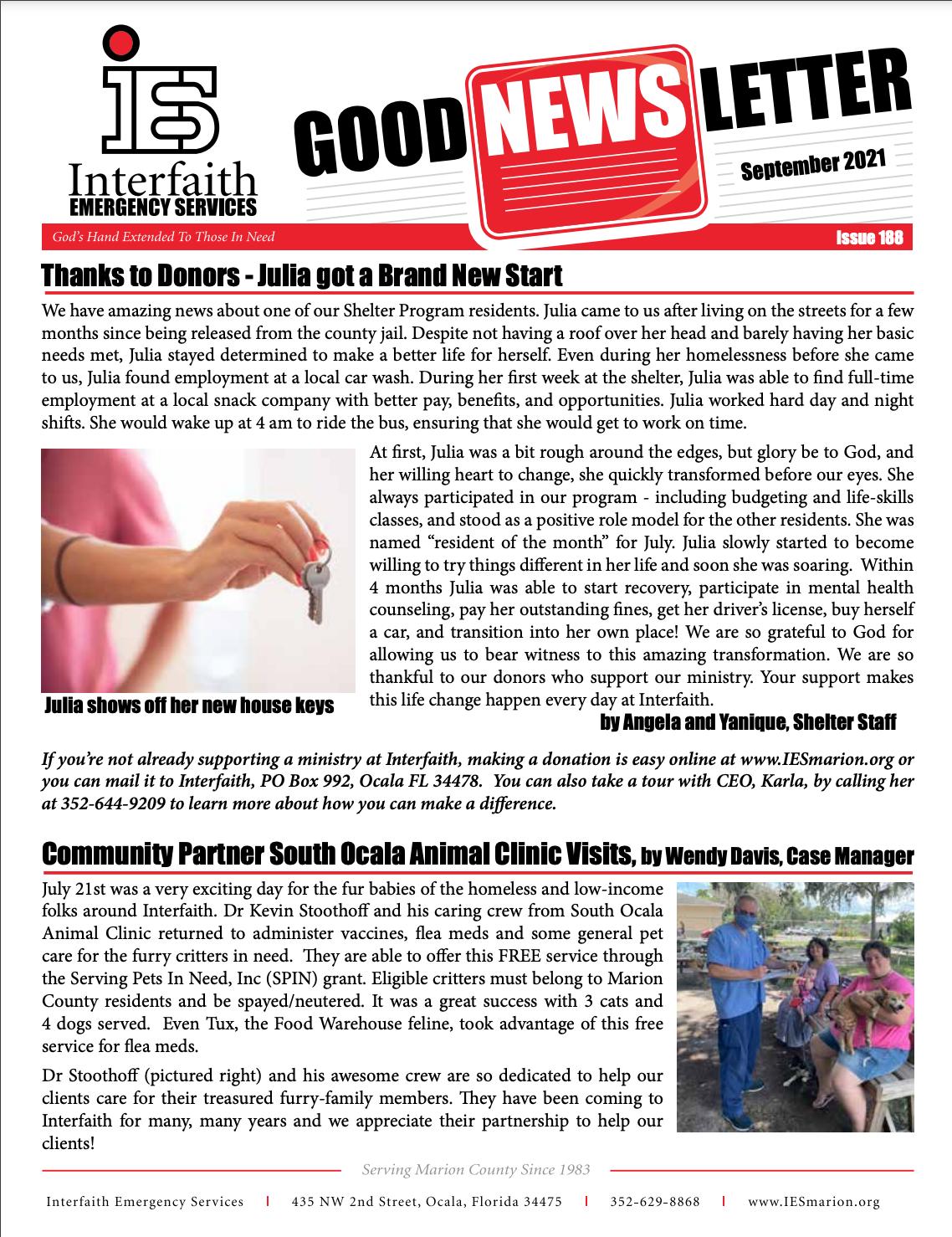 September 2021 IES Newsletter